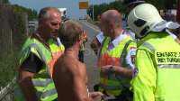 Polizeibeamte lobten den mutigen Einsatz dieses Ersthelfers